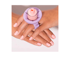 Tweexy Nail Polish Bottle Holder Washable Wearable Ring Silicone - Lilac Dreams 5