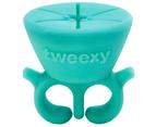 Tweexy Nail Polish Bottle Holder Washable Wearable Ring Silicone - Spa Green 1