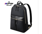 """BOPAI Luxury Style waterproof Leather & Microfibre Women's Business Backpack and Easy Daypack 14"""" Laptop Backpack B6921 1"""