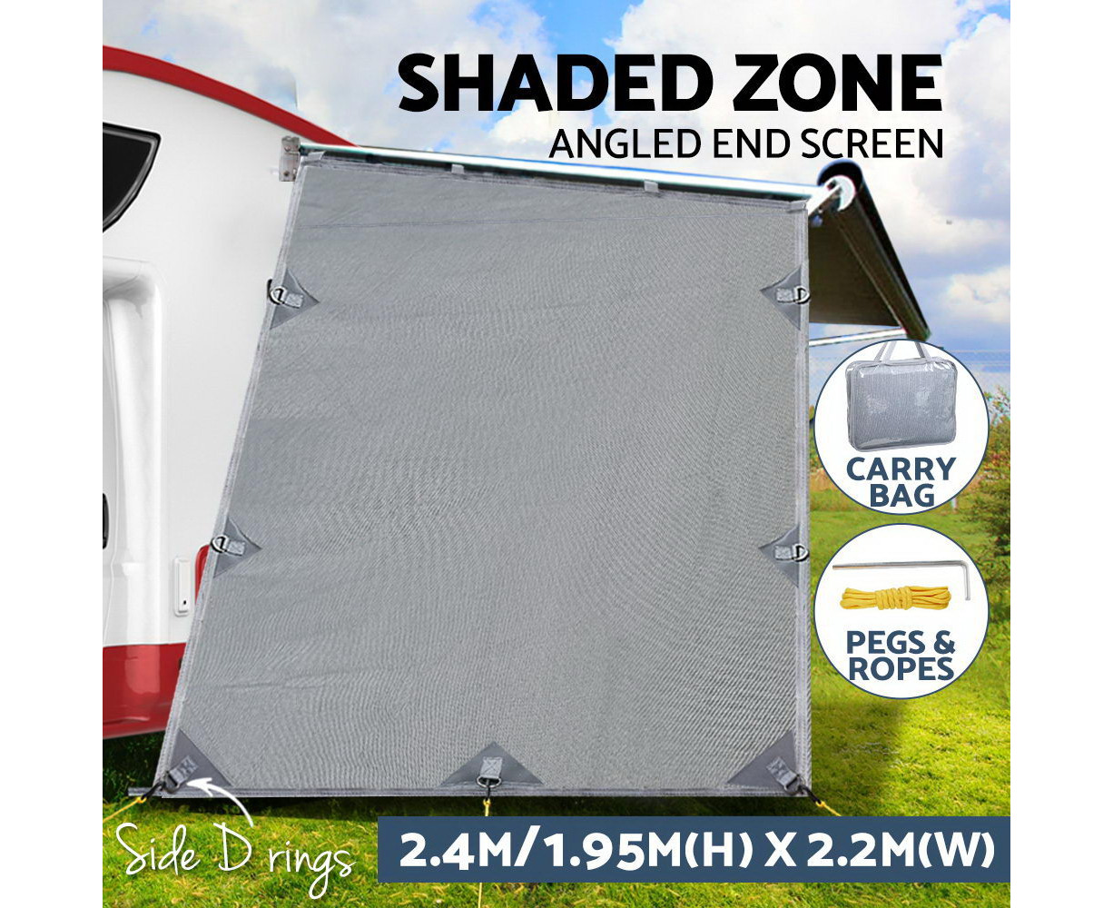 3.7m CGear Privacy Screen Sun Shade suits 13ft Roll Out Caravan Awning Motorhome