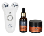 Re Microcurrent Face Lift & Tone Massager + Pure Vitamin C Serum + Cream 1