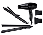 Cabello Pro 3900 Hair Dryer + Flair Hair Straightener + Chic Curling Tong 3