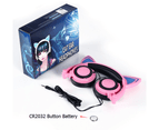 Joyroom Kids Wired Headphones Bluetooth Over Ear with LED Glowing Kids Headsets for Girls Boys-PinkBlack(Button Batteries) 9