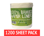 Bamboo Nappy Liners insert Biodegradable Anti-Bacterial 6 Rolls = 1200 sheets 1