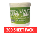 Bamboo Nappy Liners insert Biodegradable Anti-Bacterial 1 Roll = 200 sheets 1