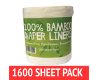 Bamboo Nappy Liners insert Biodegradable Anti-Bacterial 8 Rolls = 1600 sheet 1