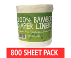 Bamboo Nappy Liners Insert Biodegradable Anti-Bacterial 4 Rolls = 800 Sheets 1