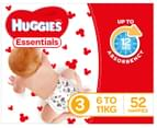Huggies Essentials Nappies Crawler Size 3 6-11kg Nappies 52pk 2