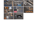 Sp Tools Kit 15 Drawer Tool Box Roller Cabinet 609 Pc Metric Sae Tools Sp50165 6