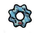 Ultimate Gear Ring Camo Blue Tuff Dog Toy for Medium & Large Dogs by Tuffy 1