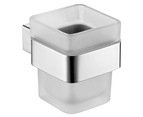 ACL Rosa Square Glass Tumbler Toothbrush Holder Stainless Steel Bathroom Accessory 6402 1
