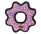 Ultimate Gear Ring Pink Leopard Tuff Dog Toy for Medium & Large Dogs by Tuffy 3