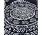 Mandala black Double/Queen/King Quilt Cover Set 3