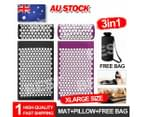 Yoga Massage Acupressure Mat Shakti Sit Lying Mats Pain Stress Soreness Relax AU 2