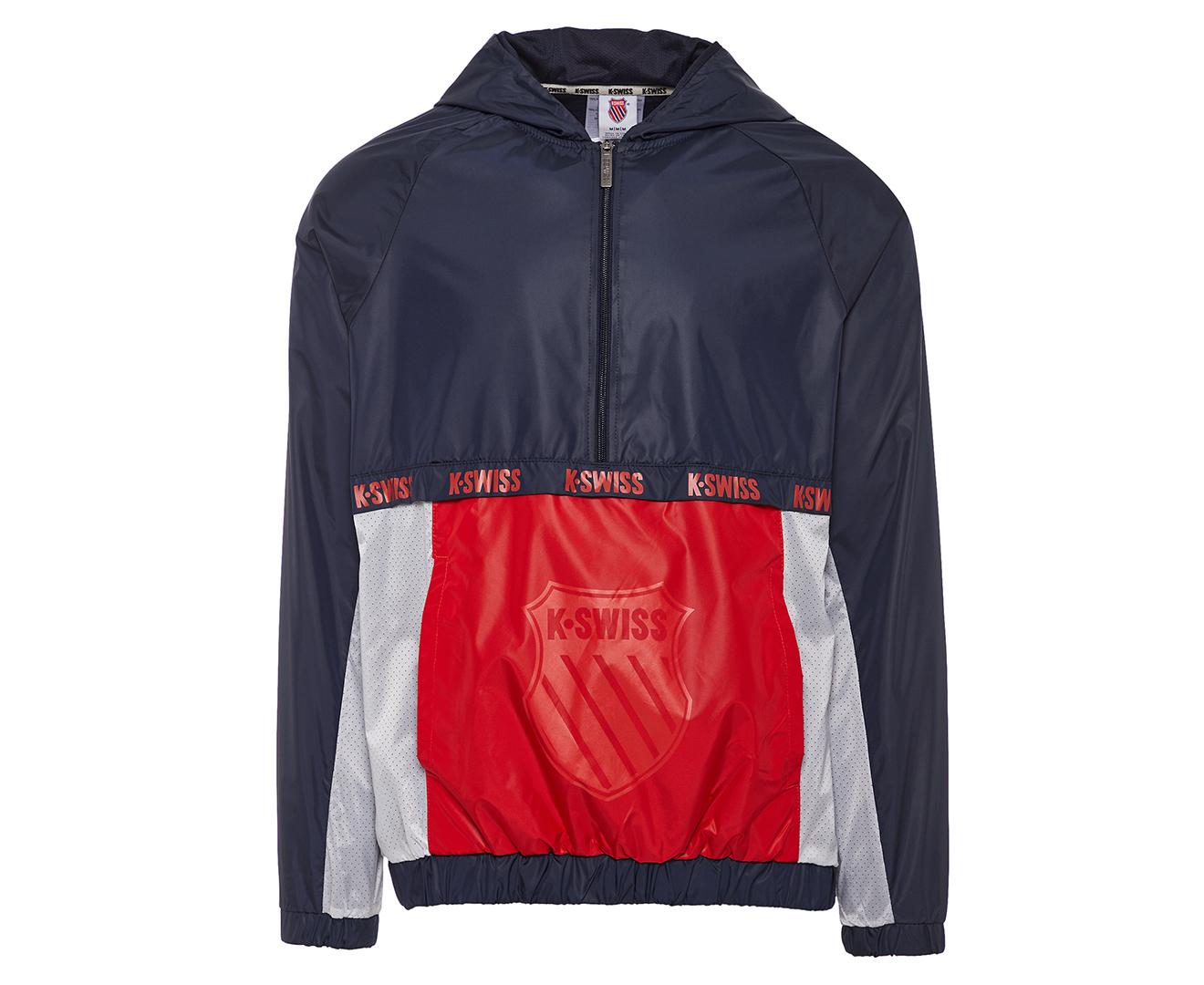 K Swiss Men S Universal Windbreaker Wind Jacket Mars Red Catch Com Au