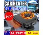 12V Portable Car Heater Fan Cold /Hot Vehicle Ceramic Heating Defroster Demister 6