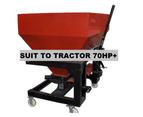 Fertiliser Spreader Twin Spindle Granular Fertilizer 1000L Capacity Tractor 3Pl 5
