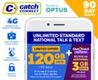 Catch Connect 90 Day Mobile Plan - 120GB (Double Data) 1