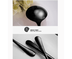 32 pcs Stainless Steel Cutlery Set Black Knife Fork Spoon Stylish Teaspoon Kitchen 5