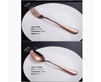 60 pcs Stainless Steel Cutlery Set Rose Gold Knife Fork Spoon Stylish Teaspoon Kitchen 3