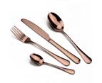 24 pcs Stainless Steel Cutlery Set Rose Gold Knife Fork Spoon Stylish Teaspoon Kitchen 1