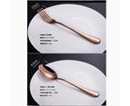 24 pcs Stainless Steel Cutlery Set Rose Gold Knife Fork Spoon Stylish Teaspoon Kitchen 3