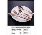 24 pcs Stainless Steel Cutlery Set Rose Gold Knife Fork Spoon Stylish Teaspoon Kitchen 6