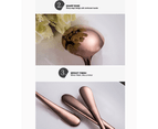 24 pcs Stainless Steel Cutlery Set Rose Gold Knife Fork Spoon Stylish Teaspoon Kitchen 7