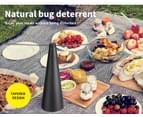 Fly Free Entertaining Chemical Free Repellent Fly Fan Indoor Outdoor Home Black 3