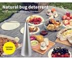 Fly Free Entertaining Chemical Free Repellent Fly Fan Indoor Outdoor Home Silver 3