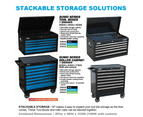 Sp Tool Box Trolley Cabinet Sp40126 7 Drawer Stackable Storage Blue Toolbox 4