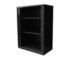 RAPIDLINE GO TAMBOUR CUPBOARD 5 SHELVES 900W x 1981H x 473mmD Black 3