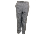 Black & White Check Chef Pants with Pockets - Work pants 1