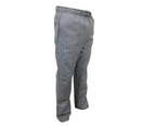 Black & White Check Chef Pants with Pockets - Work pants 2