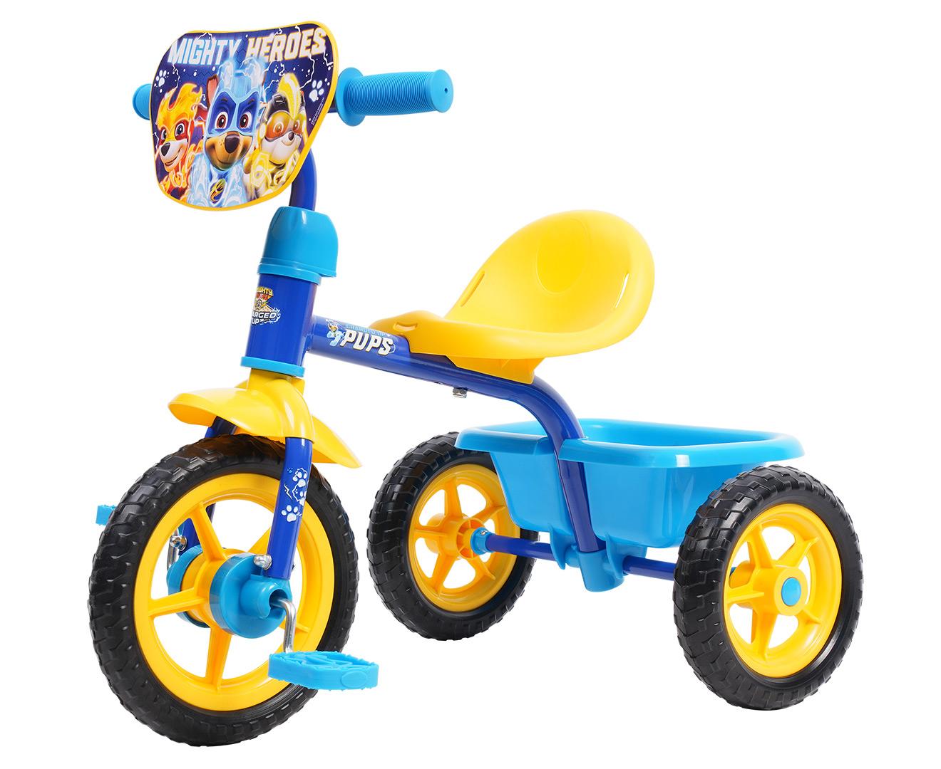 Paw Patrol Kids' Mighty Pups Trike w/ Bucket - Blue/Multi | Catch.com.au