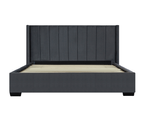 Bed Frame in Super King, King or Queen Size - Mayfair Velvet Charcoal 3