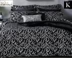 DaVinci Nico Sterling King Bed Quilt Cover Set - Black/Silver 1