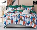 Gioia Casa Shell Reversible Queen Bed Quilt Cover Set - Multi 1