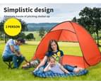 Mountview Pop Up Beach Tent Caming Portable Shelter Shade 2 Person Tents Fish - Orange 3