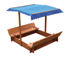 Kids Wooden Toy Sandpit with Canopy 3
