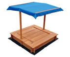Kids Wooden Toy Sandpit with Canopy 4