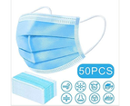 50x Pack Disposable Daily Protective 3-Ply Face Masks 1