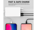 5 Ports USB-A/USB-C Wall Charger Adapter Plug w/Surge Protect for Apple/Android 4
