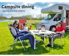 Levede Roll Up Camping Table  Folding Portable Aluminium Outdoor BBQ Desk Picnic 3