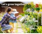 Levede Plant Stands Outdoor Indoor Metal White Flower Pot 3 Garden Corner Shelf 7