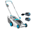 Swift 40V 37Cm Cordless Wide Battery Lawn Mower Kit - Include 2 x 40V battery And charger 1