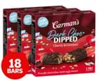 3 x Carman's Dark Choc Dipped Bars Cherry & Coconut 210g 6pk 1