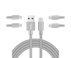 WIWU 5Packs USB Type C Cable Nylon Braided Phone Cable iPad Air 4 iPad 8 USB Cord -Gray 1