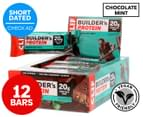 12 x CLIF Builders Protein Bars Chocolate Mint 68g 1