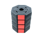 Octagon Vinyl Weight Dumbbell Set with Barbell Bar Easy Clips Black Red 10/15/20/30/40KG 8